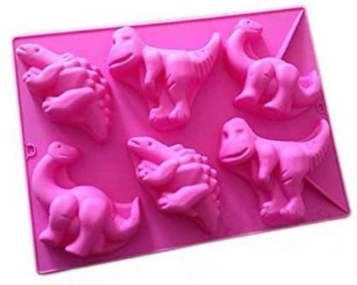 Wholeport Dinosaur Shape Silicone Baking Cake Mold Candle Mold