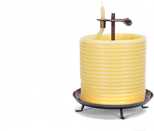 Candle by the Hour 20561B 144-Hour Candle, Eco-friendly Natural Beeswax with Cotton Wick,Yellow