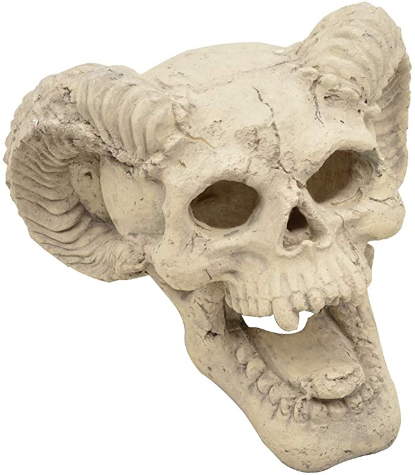 Stanbroil Demon Fireproof Skull Gas Log for Ventless & Vent Free, Propane, Gel, Ethanol, Electric, Outdoor Fireplace and Fire Pit, Halloween Decor - Patent Pending