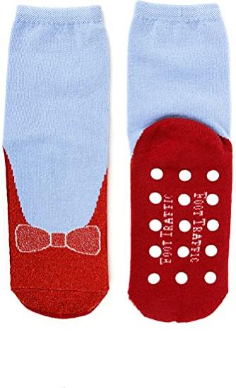Foot Traffic Novelty Slip Grip Socks for Women, Warm Slipper Socks with Nonslip Pads