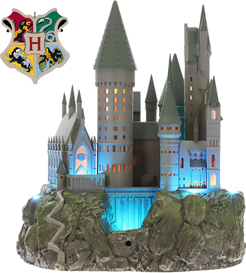 Hallmark Keepsake Christmas Ornament 2019 Year Dated Harry Potter Collection Musical Light (Plays Hedwig's Theme Song), Hogwarts Castle Tree Topper