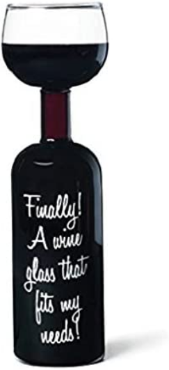 BigMouth Inc Ultimate Wine Bottle Glass, Holds Full Bottle of 750 Milliliters