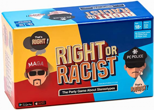 Right Or Racist - Funny Adult Party Game - Hilarious NSFW Game - Gag Gifts - Birthday Gifts for Men - Women