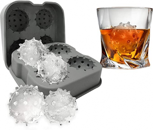CO_VID Ice Cube Mold Tray Gifts for Men Dad Boyfriend Colleague, Unique Gift, Stocking Stuffer, White Elephant, Dirty Santa Yankee Swap