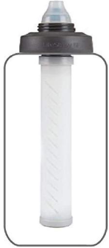 LifeStraw Universal Water Filter Bottle Adapter Kit Fits Select Bottles from Hydroflask, Camelbak, Kleen Kanteen, Nalgene and More, White