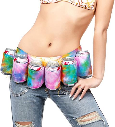 BigMouth Inc Tye Dye 6-Pack Beer Belt/Holster