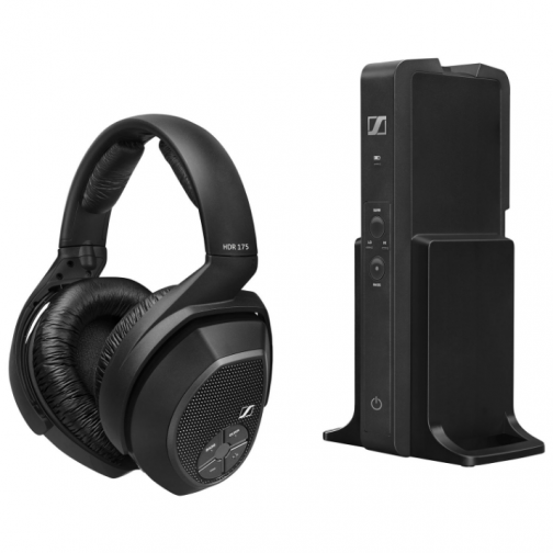 Sennheiser RS 175 Over-Ear Sound Isolating Wireless Headphones - Black