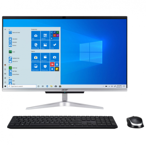 "Acer 24"" All-in-One Desktop PC - Silver/Black (Intel Core i3-1005G1/1TB HDD/8GB RAM/Windows 10)"