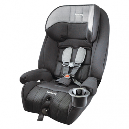 Harmony Defender 360° Convertible 3-in-1 Booster Car Seat - Heather Grey - Only at Best Buy