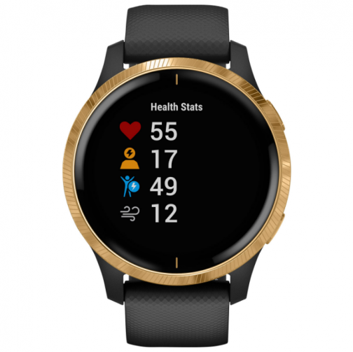 Garmin Venu 42mm GPS Watch with Heart Rate Monitor - Gold/Black - Only at Best Buy