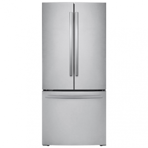 "Samsung 30"" 21.8 Cu. Ft. French Door Refrigerator with LED Lighting (RF220NFTASR/AA) - Stainless Steel"