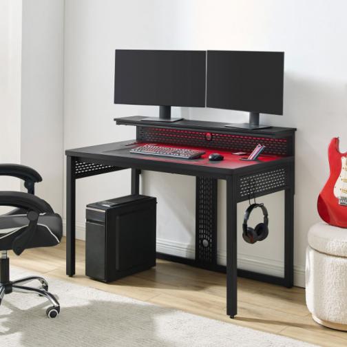 "Alpha 48""W Gaming Desk - Black"