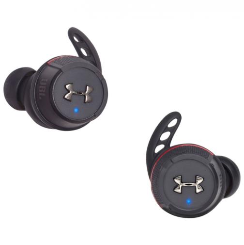 JBL Under Armour True Wireless Flash In-Ear Sound Isolating Sport Headphones - Black