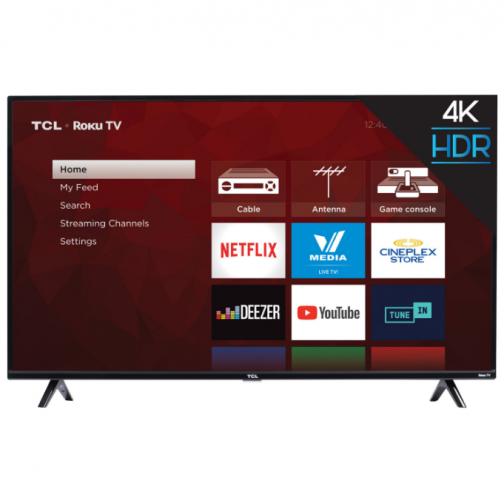 "TCL 4-Series 50"" 4K UHD HDR LED Roku OS Smart TV (50S425-CA)"