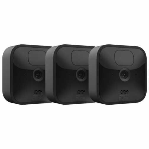 Blink Outdoor Wire-Free 1080p IP Security Camera System - 3-Pack - Black