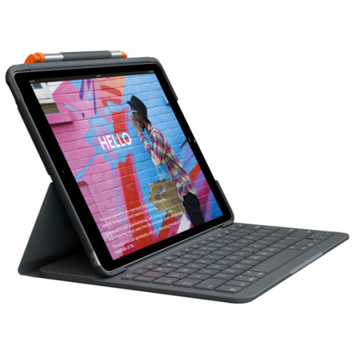 "Logitech Keyboard Slim Folio Case for iPad 10.2"" - Black"