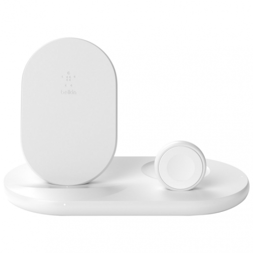 Belkin BOOST CHARGE Qi 3-in-1 Wireless Charging Dock for Apple Devices (WIZ001ttWH) - White