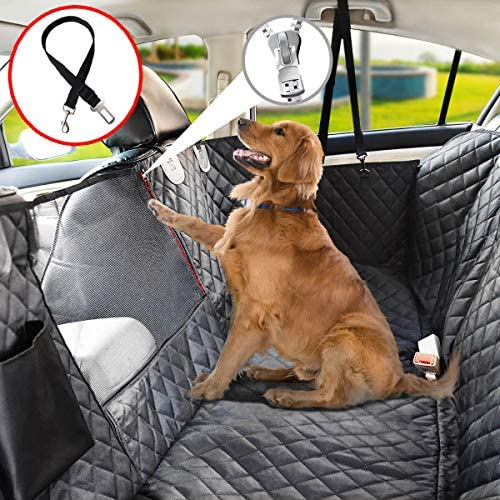 Dog Seat Cover for Back Seat, 100% Waterproof Dog Car Seat Covers with Mesh Window, Scratch Prevent Antinslip Dog Car Hammock, Car Seat Covers for Dogs, Dog Backseat Cover for Cars,Standard