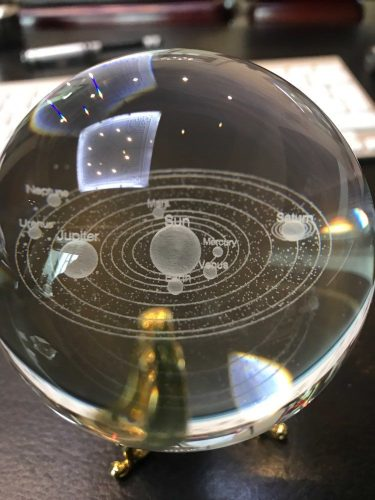 3D Solar System Crystal Ball photo review