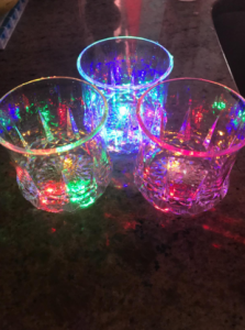 Automatic Water Activated Colorful Flashing LED Beer Glow Glasses photo review