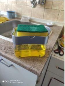 2-in-1  Sponge Rack Soap Dispenser photo review